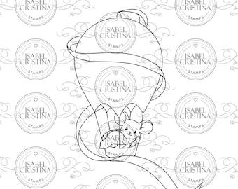 Newborn balloon - IsabelCristinaStamps