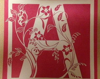 "sold-Original paper cut- letter ""A""..."