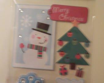 Soft Spoken Christmas Snowman Stickers Embellishments Die Cuts