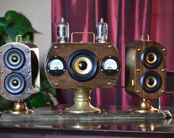 Steampunk Bluetooth Stereo with Subwoofer