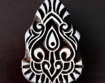 pottery Stamps, Indian Wood Stamp, Textile Stamp, Wood Blocks, Tjaps, Printing Stamp- Baroque/Damask Motif Motif