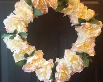 Summer wreath / spring wreath / front door wreath / door wreath / holiday wreath / flower wreath