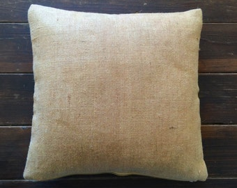 "Closeout! burlap pillow, Pillow case, Cushion Cover, throw pillow, accent pillow, 16""x16"""