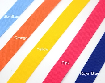 1 inch 25 mm Wide Colored Elastic, Waistband Elastic , Sewing Elastic by the Yard