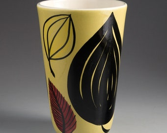 Stavangerflint, Norway - INGER WAAGE - Vase with leaves