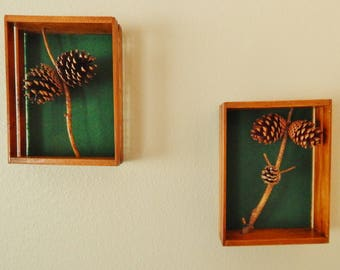 Real Pine Cone wall art, Pine cone wall decor, hanging pine cone decorations