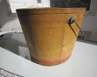 Vintage Grain painted bucket