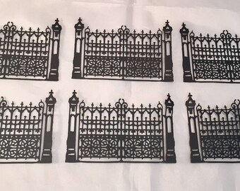 Tim Holtz Die Cuts * Gothic Gate * Fence * Halloween * Sizzix 661586 * Set of Six *
