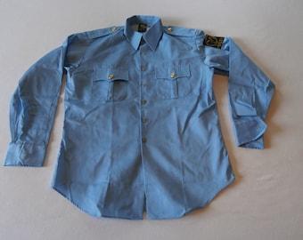 70's Norwegian Cop Uniform Shirt NOS