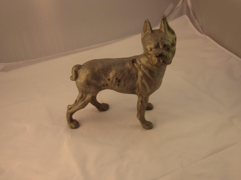 Hubley Antique Cast Iron Boston Terrier Door Stop Boston