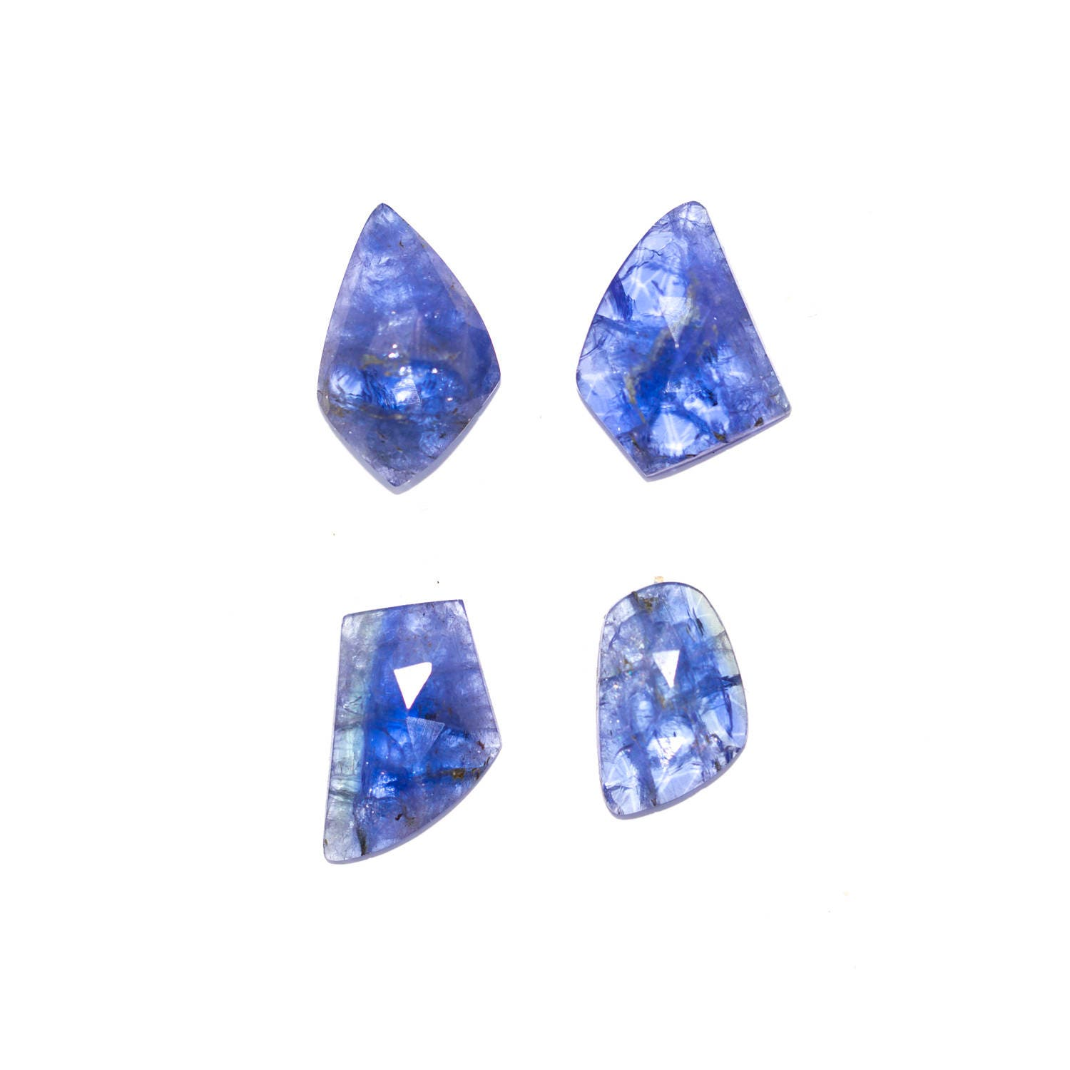 pear purple heated tanzanite tanzania ct loose natural gemstones trillion vs violet r dark shape