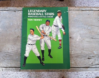 vintage baseball stars paper dolls book by tom tierney
