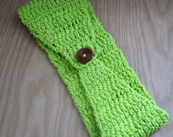 Crochet Head Band, LIME GREEN, Summer Head Band, Boho HairBand, Hippie, Bohemian, Crochet HairBand, Hairband, Spring Fashion
