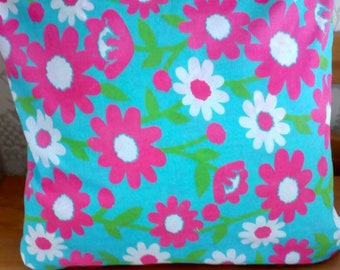 Bright floral cushion cover with a zip