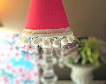 Mini Lampshade, Lamp shade, Small Lamp shade, Chandeleir Lamp shade, Polka Dot, Sconce Shade