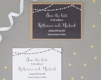 Fairy Light Wedding Save The Date - Sample Wedding Invitations - Sample Save The Dates - Wedding Invitations - Invitations for Weddings