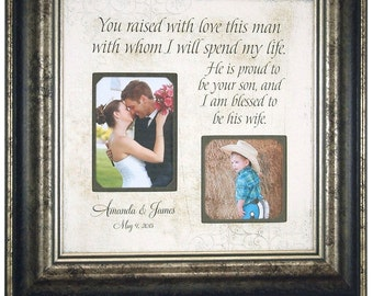 Personalized Mother Of The Groom Wedding Thank You Gift, In laws wedding gift, mother of the groom wedding gift, 16x16