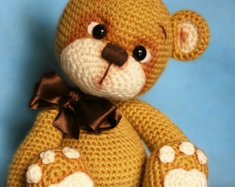 Elfin Thread - Teddy Bear Amigurumi PDF Pattern (Teddy Bear crochet  PDF pattern)