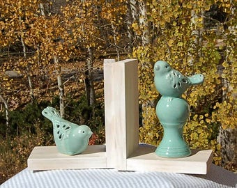 Turquoise Bird Bookends