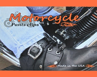 Motorcycle Pant Clips, Boot Straps