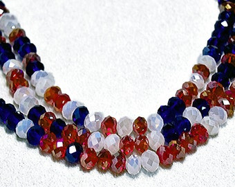 Old Glory-red-white-blue beads