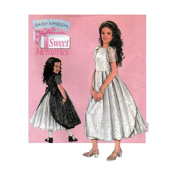 Patrón de coser vestido niña, vestido de la muchacha de flor ...
