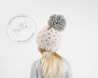 Knitting Pattern / Children's Fair Isle Knit Hat With Pom Pom / THE LITTLE ALPINE Hat