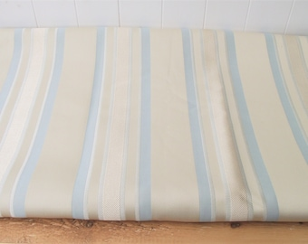 Laura Ashley Fabric Remnant, Stripe Duck Egg Blue Fabric, Soft Furnishings Material, Sewing Projects, Crafts Material, Forbury Stripe Fabric