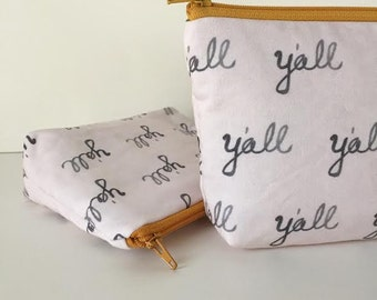 simple pouch -- southern belle y'all