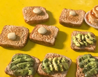 Toast! Buttered OR Avocado- rings, magnets, and pins