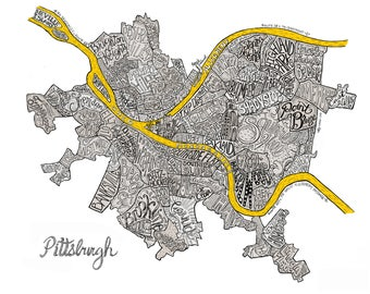 Pittsburgh Neighborhoods - 3 Gold Rivers