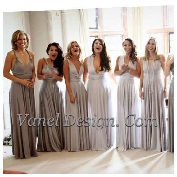 GREY Bridesmaid Dress Convertible Bridesmaids Dresses