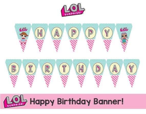 L.O.L Überraschung Happy Birthday Banner