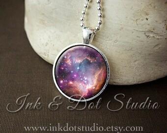 Dwarf Galaxy Necklace, Galaxy Pendant, Small Magellanic Cloud Necklace, Galaxy Jewelry