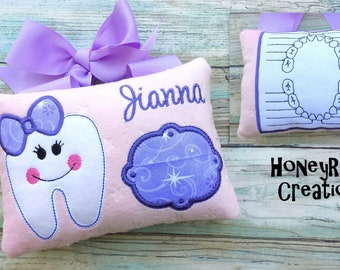 Tooth fairy pillow.Personalized tooth fairy pillow.