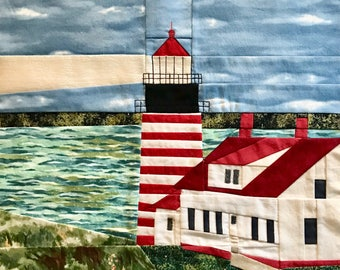 West Quoddy, ME Lighthouse quilt pattern