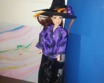 Barbie Halloween Top/pants 144B and Witch's hat