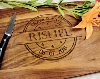 Personalized Cutting Board, Custom Cutting board,Wedding Gift,Engagement gift,Anniversary Gift,Cookware,Kitchen and Dining, Gift for couples