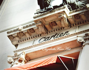 Cartier Boutique, Sign, Fine Art Photograph, Fashion,New York City, NYC, Fashionista, Dorm Decor,Shopping,Paris Designer,Manhatten,Travel