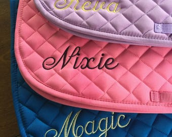 Personalized English Saddle Pad with Name