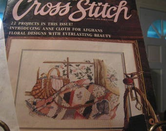 1988 Cross Stitch Magazine Premier Issue by Leisure Arts 22 projects
