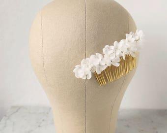 ON SALE / Silk Flower Hair Comb, Bridal Headpiece, Bridal Hair Comb, Floral Hair Piece, Hair Flower, Wedding Hair Comb, Flower Headpiece