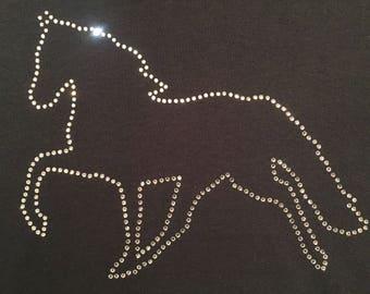 Pleasure Horse Rhinestone Outline