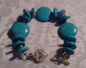 Turquoise Bracelet: Toggle Clasp