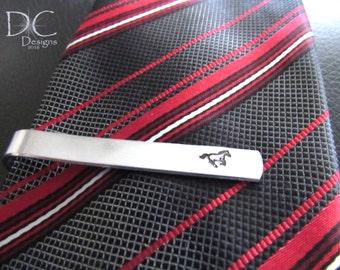 Horse Tie Clip, Horse Gifts, Personalized Tie Clip, Custom Tie Bar, Rustic Wedding, Equestrian Tie Bar, Groomsman Gift, Cowboy Tie Clip