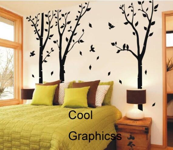 Birch Trees Forest vinyl wall decals tree wall sticker
