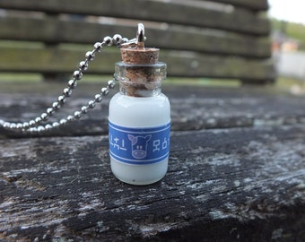 Miniature Legend of Zelda Lon Lon Milk Bottle Necklace