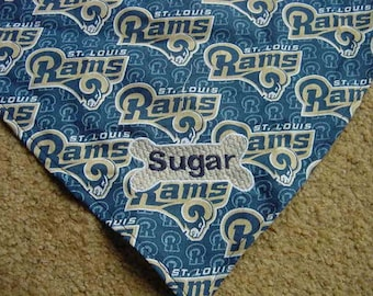Personalized St. Louis Rams Football Dog Puppy Cat Kitten Pet Bandana Scarve Wedding Ring bear Embroidered