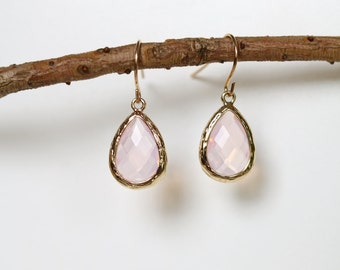Violet Opal Earrings - Gold Dangle Earrings - Stone Earrings - Drop Earrings - Birthstone Earrings - Opal Earrings - Opal Jewelry