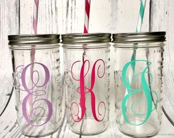 Personalized Mason Jar Cup, Mason Jar Tumbler, Excercise Mason Jar Tumbler Cup, Sports Water Bottle, Workout, Sports Drink Bottle, Glass Cup